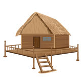 Straw hut. The straw hut vector design Vector Illustration