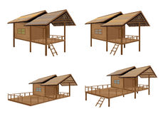 Straw hut. The straw hut vector design Royalty Free Stock Photography