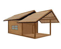 Straw hut. The straw hut vector design Royalty Free Stock Image