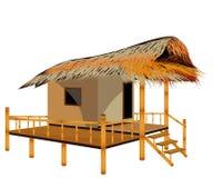 Straw hut. Vector design royalty free illustration