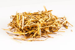 Straw litter raw material animal feed Stock Photography
