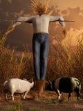 Straw Man illustration stock