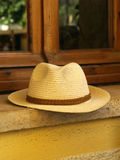 Straw man hat Royalty Free Stock Photography