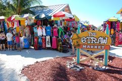 Straw Market at Caco Cay Stock Photo