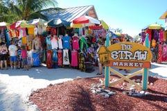Straw Market på Caco Cay Arkivfoto