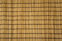 Straw mat. Close-up of straw mat with vertical stripe Stock Photo
