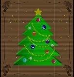 Straw mat Christmas tree Royalty Free Stock Image