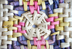 Straw mat. Color manually spinning straw mat Royalty Free Stock Photo