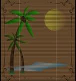 Straw mat summer landscape Stock Image