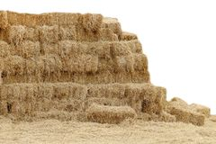 Straw hey, Mountain shape straw hay dry, Straw many on white background, Straw block cube, Hay dry backdrop mountain shape. The Straw hey, Mountain shape straw royalty free stock photography