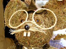 Straw mouse Stock Photography