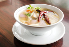 Straw mushroom  soup Stock Photo