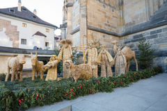 Free Straw Nativity Scene At St. Vitus Cathedral In Prague Stock Image - 82089311