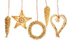 Straw ornaments Stock Photo