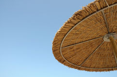 Straw parasol Stock Image