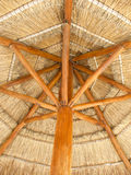 Straw parasol Stock Photo