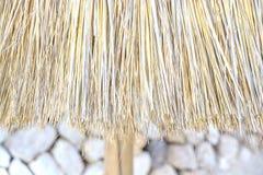 Straw parasol closeup Stock Image
