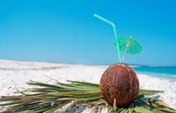Straw and parasol Stock Photo