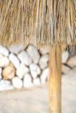 Straw parasol detail royalty free stock images