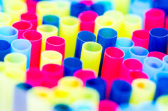 Straw pattern. Group of straws in a colored pattern Stock Photos
