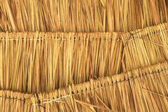 Straw pattern roof Royalty Free Stock Photography