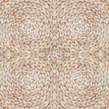 Straw pattern texture repeating seamless. Natural woven straw background. Stock Image