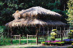 Straw Pavilion stock photo