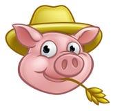 Straw Pig Cartoon Character Stockfotografie