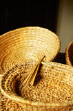 Straw plates Royalty Free Stock Images