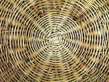 Straw Platter Macro. OLYMPUS DIGITAL CAMERA Close up of woven plate stock image
