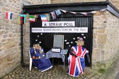 Straw Poll, festival do espantalho de Wray, Lancashire Fotos de Stock Royalty Free