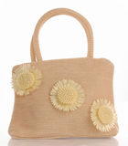 Straw purse Royalty Free Stock Image