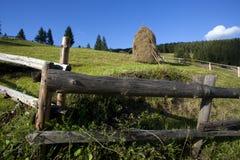 Straw reek. A straw reeks on a hill Stock Photo