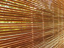 Straw roller shade Royalty Free Stock Photography