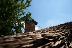 Straw Roof. Old rustic home with a straw roof Royalty Free Stock Images