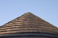Straw roof Royalty Free Stock Photo