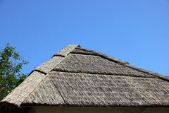 Straw roof. Royalty Free Stock Photo