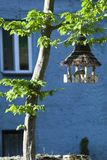 Bird Feeder At Dusk stock photography
