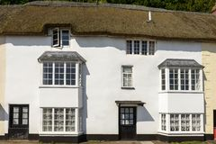 Straw roof cottage at Minehead, Somerset Royalty Free Stock Photos