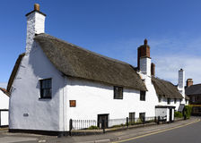 Straw roof cottage at Porlock, Somerset Royalty Free Stock Image