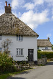 Straw roof cottages at North Bovey, Devon Royalty Free Stock Photos