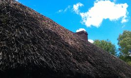 Straw roof. In an old village in ireland Stock Images