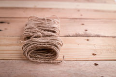 Straw rope on the floor Stock Image