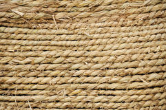 Straw rope texture. Detail of a straw rope texture stock photo