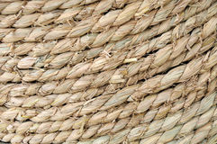 Straw rope texture Stock Photos