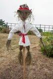 Straw scarecrow royalty free stock image
