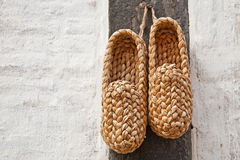 Straw shoes Stock Photos