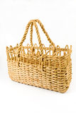 Straw shopping basket Royalty Free Stock Photography