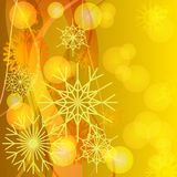 Straw snowflakes Stock Images