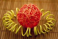 Straw sphere Stock Photo